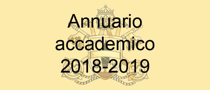 annuario accademico 2018-2019