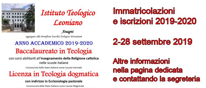 Immatricolazioni e iscrizioni 2019-2020